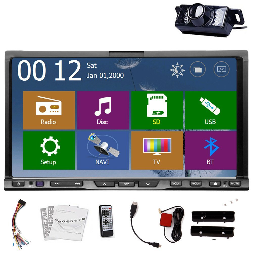 Christmas Sale!!! Auto Back Camera included AUX GPS Car Radio DVD Player Universal Accessory 2 DIN Car Video Stereo GPS Universal Bluetooth FM AM Auto Radio AUX Universal 2DIN Multi-Media Play