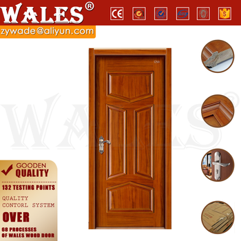 50mm thick entry door double wooden safety teak door for Wood door design catalogue