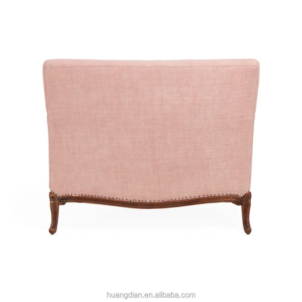 Vintage Cheap Furniture: Pure Vintage Pink Hemp Loveseat Armchair Furniture Cheap