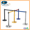 China Alibaba Road Safety Products Stainless Steel Bollard / Retractable Belt Stanchion