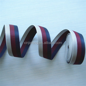 Embroidered Letters on Fabric Webbing Ribbon