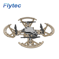 Hot Sale Flytec 2019 New Mini DIY RC Drone Wooden Quadcopter M2 Paintable RC Drone For Kids Gift