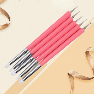 New Nail Pen, 5Pcs High Quality Silicone Double-Headed Flower Pen, Professional Beauty Nail Painting Tools