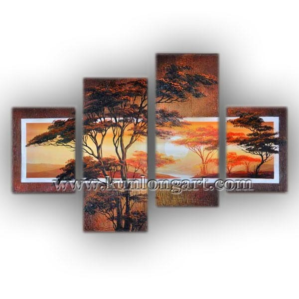 Free Shipping Unframed Hand-painted Decorative Art Painting, Landscape Oil Painting, Modern Canvas Painting for Home Decoration
