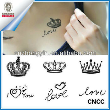 De La Corona De La Reina De Tatuaje Temporal Pegatinas Zy3 4065