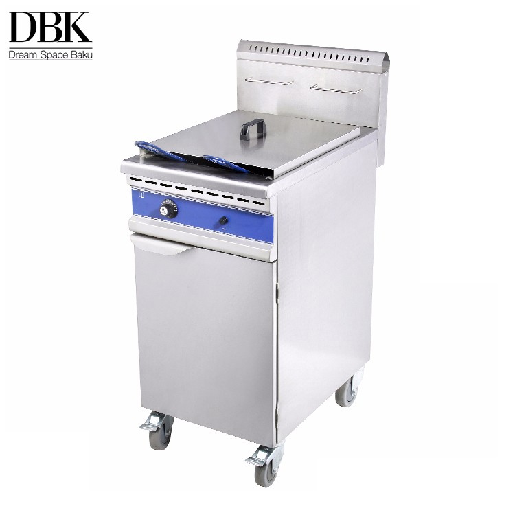 DBK Counter Top Industrial Gas or Electric Fryer Commercial Used Gas Deep Fryer