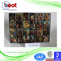 2016 New Arrival Free Sample Renaissance Oil Painting Vintage Style Fridge Magnet Refrigerator Magnet