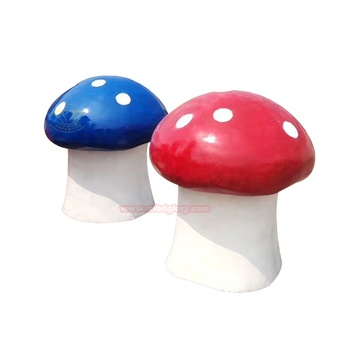 Custom design Playground ornaments products fiberglass mushroom sculpture