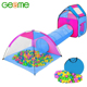 Outdoor Funny 3 in 1 Folding Kids Pop Up House Play Tent with Tunnel