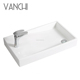 Bathroom ceramic one piece sink and countertop basin