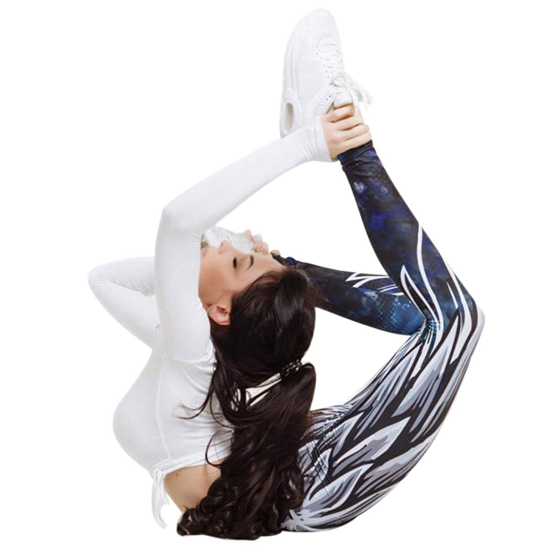0592807f86641 Bokeley Yoga Pants, Women's Skinny High Waist Yoga Pants Wings Print Workout  Yoga Pants Leggings