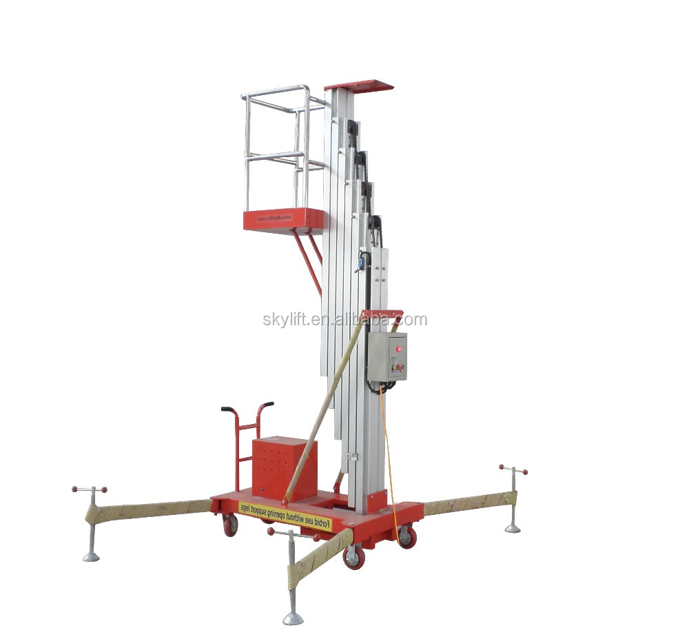9.5m Hot sale !! electric aerial ladder lift telescopic man lift