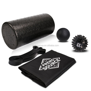 Foam Roller Massage Stick Lacrosse Ball Spikey Ball and Carry Case 4in1 Fitness Set for Muscle Massage and Sports Massage
