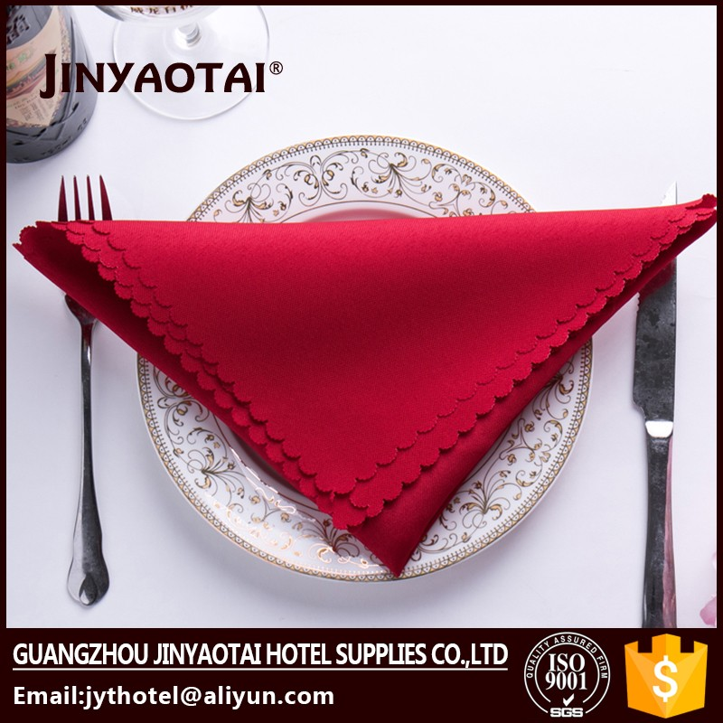 home Guangzhou polyester/cotton wholesale cheap polyester visa dinner napkin