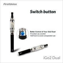 New e cig design electric sheesha 650mAh&1000mAh dual flavors clearomizer electronic cigarette news