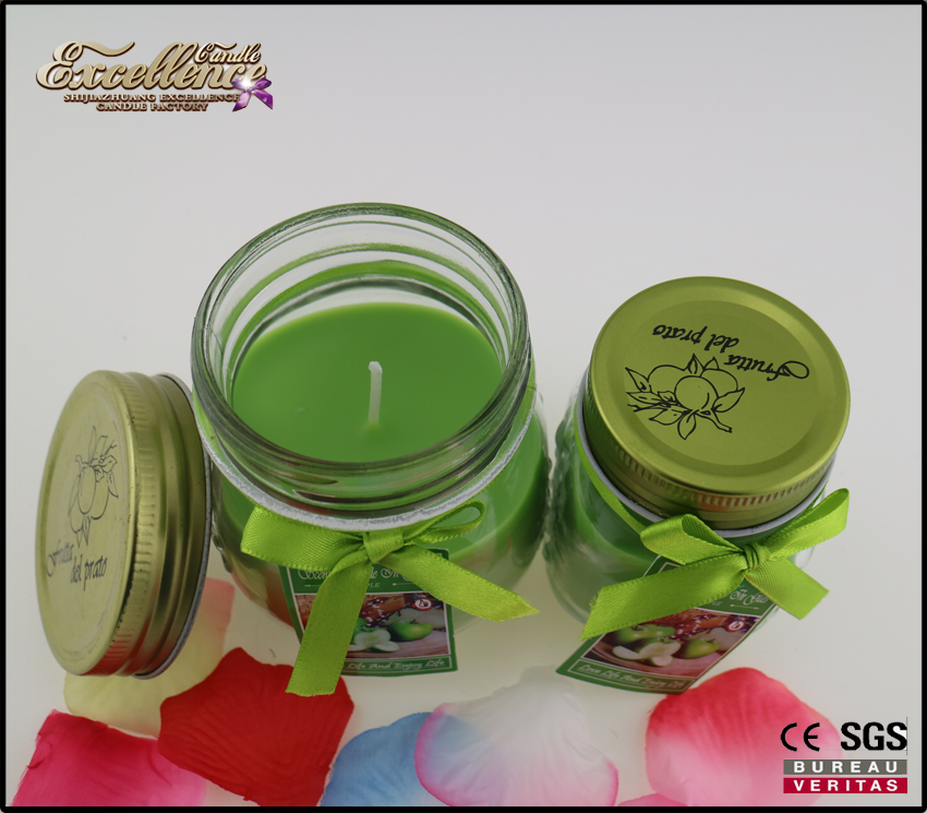 Wholesale Customized Good Design Scented Jar Candle For Home Decoration