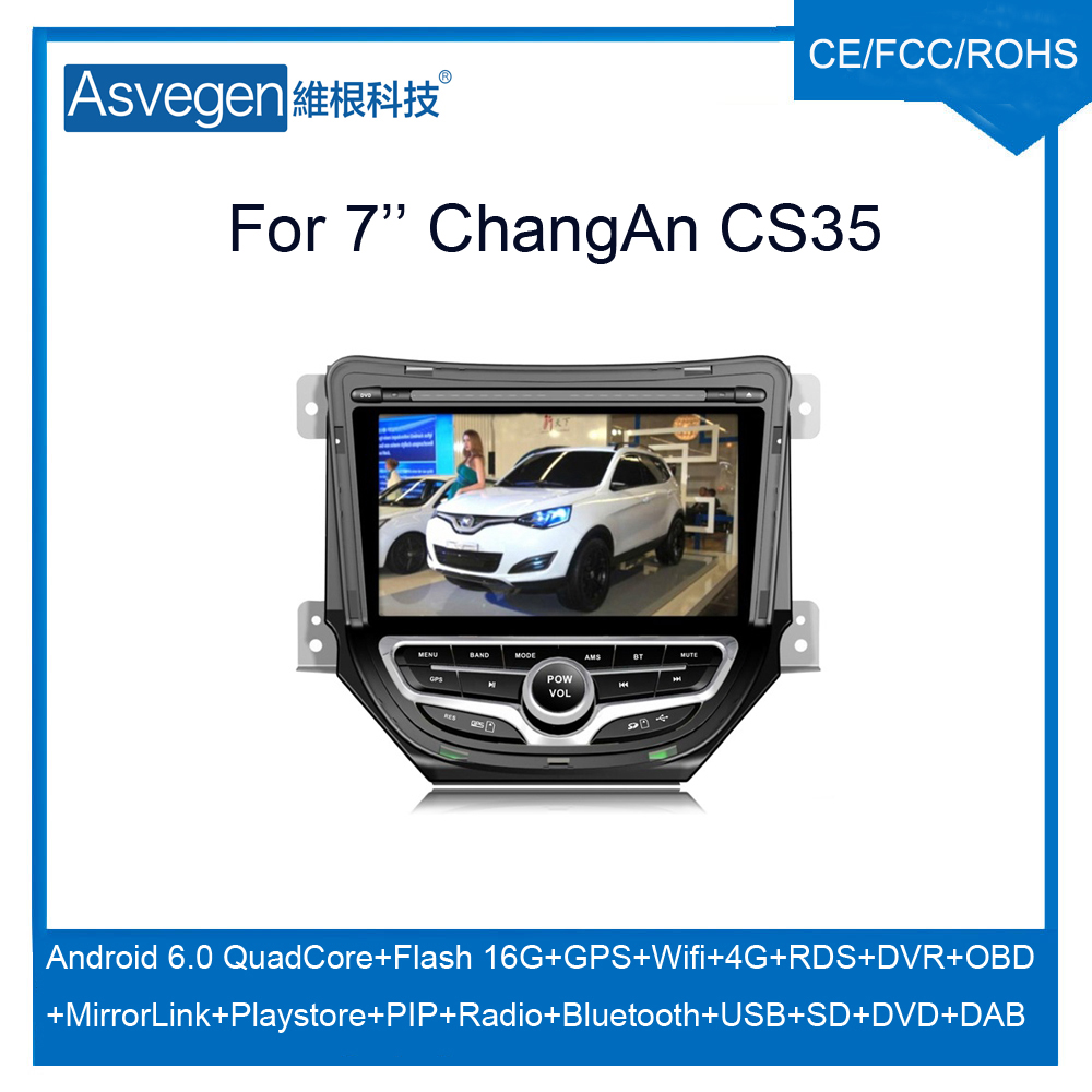 For ChangAn CS35 Car dvd player with GPS Android Quad Core Mirror Link Bluetooth DAB Radio MP5 USB Tire Pressure OBD