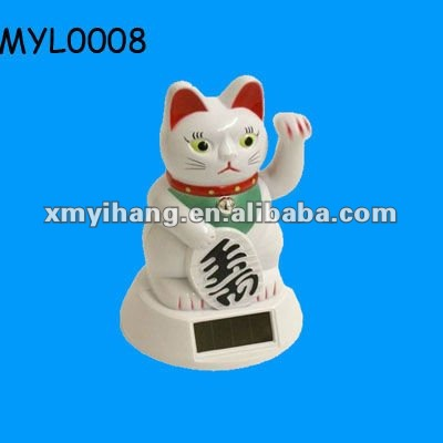 New hot popular ceramic lucky cat with waving paw