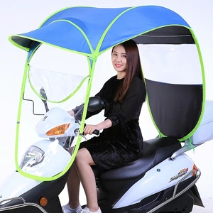 Wholesale best quality windproof rain proof canopy sunshade motorcycle electric car umbrella on sale