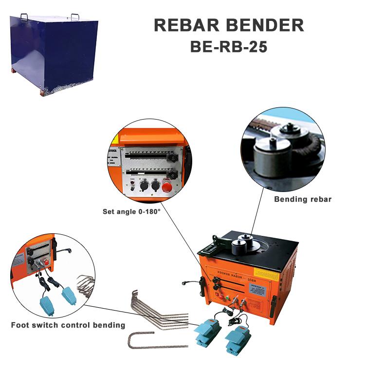Odetools  steel bar bender  machine  rebar bending machine  rb-25 1 inch iron bending machine for construction