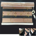 New Style product zebra roller blinds 100% polyester embroidery sunscreen window manual Shangri-La blinds