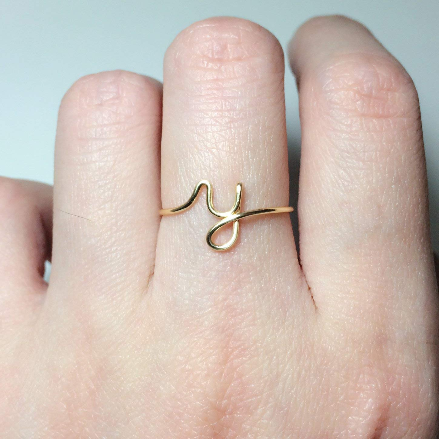 24ccc4a35 Get Quotations · Personalized Initial Ring Custom Initial Ring Letter Ring/initial  ring/stack rings/name