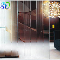 Chinese decorative art glasArt glass used for push-pull sliding doors through strict verifications