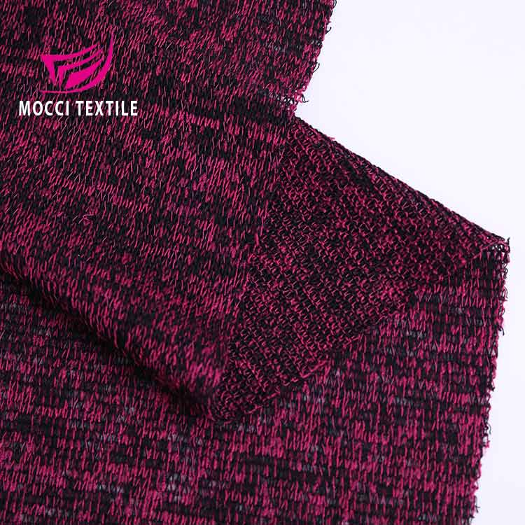 Mocci Chine Fournisseur D'or Challis Rayonne polyester pull tricoté tissu