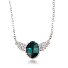 43226-Xuping <span class=keywords><strong>Sieraden</strong></span> Groene <span class=keywords><strong>kleur</strong></span> luxe kristallen <span class=keywords><strong>ketting</strong></span> gemaakt met Kristallen uit Swarovski