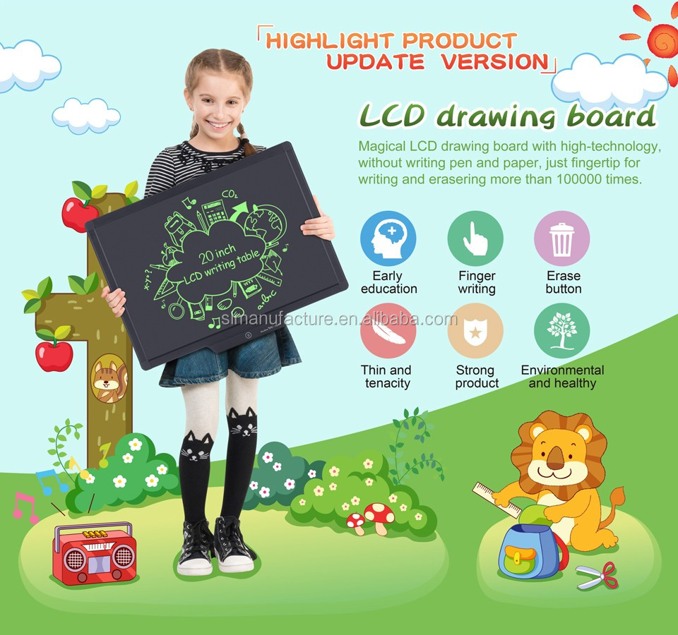 20 inch hot writting board/20 lcd writing tablet/lcd digital drawing board