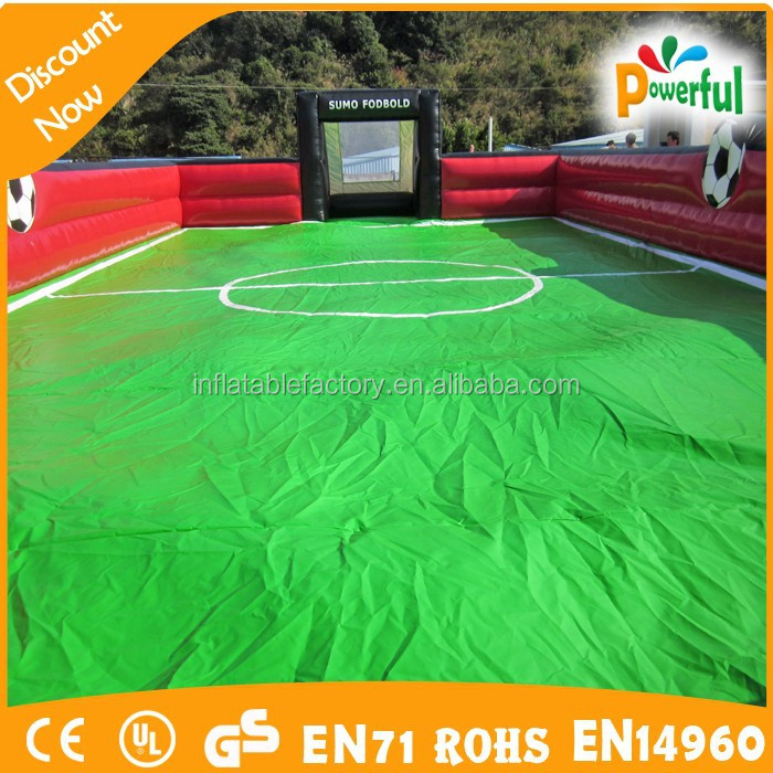 hot inflatable water bubble soap football field/inflatable football stadium/inflatable soap soccer field