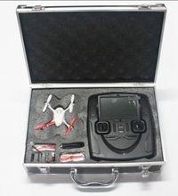 Strong Silver Carry Case for Hubsan Quadrocopter Case for Aircraft Helicopter China