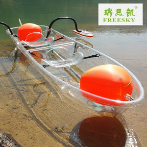 double fishing boat,small clear plastic kayaks, PC rowing canoe