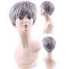 Grey Wigs for White Women Short Old Ladies Wig Synthetic Hair Womens Full Wigs