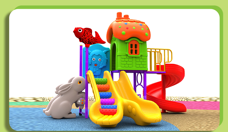 Commercial Plastic Outdoor Kids Playground Slide For Sale