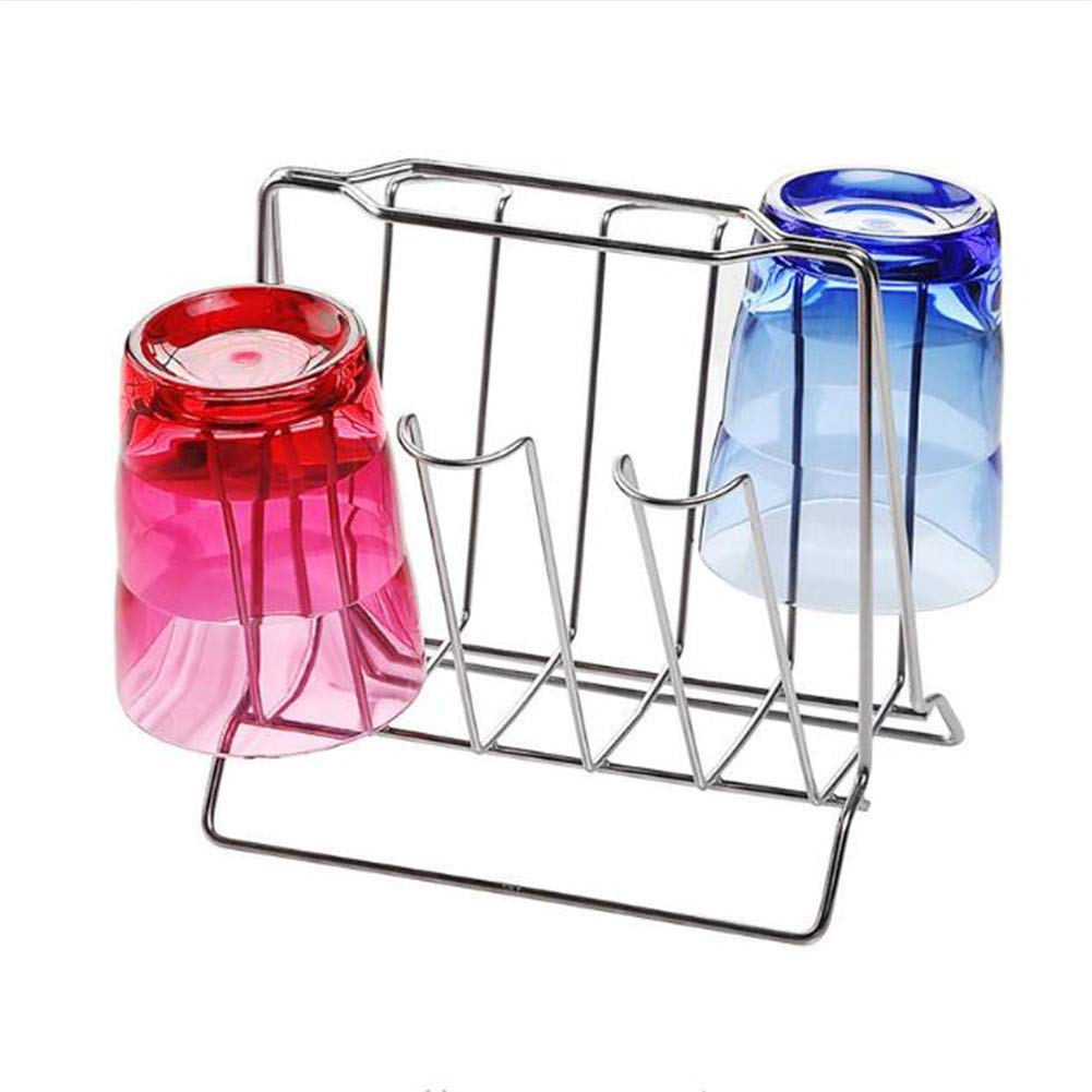 Mug Holders,Glass Cup Drainer Stand, Stainless Steel Water Mug Draining Rack, Hanging Shelf for Cup, Sink Draining Drying Rack, Mug Storage Holder, Home Kitchen Storage Supplies