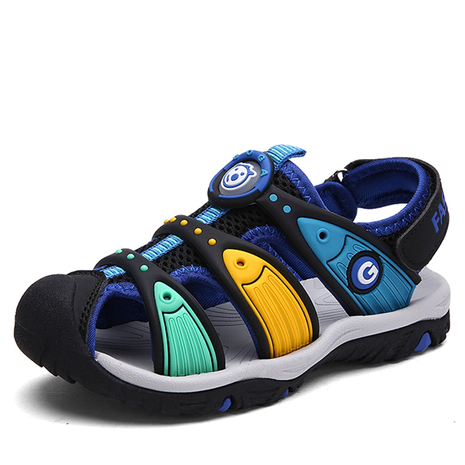 a01c84d0d97dbf Get Quotations · Bigcount Boys Girls Outdoor Sport Closed-Toe Sandals Kids  Breathable Mesh Water Athletic Sandals Shoes