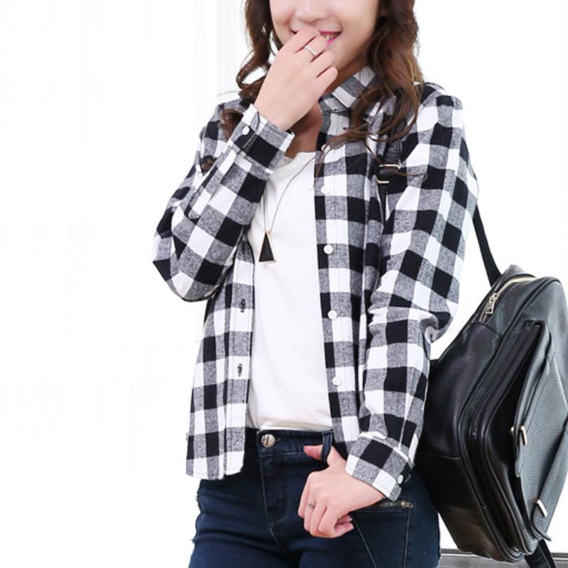 Ladies Black And White Check Shirt | Artee Shirt