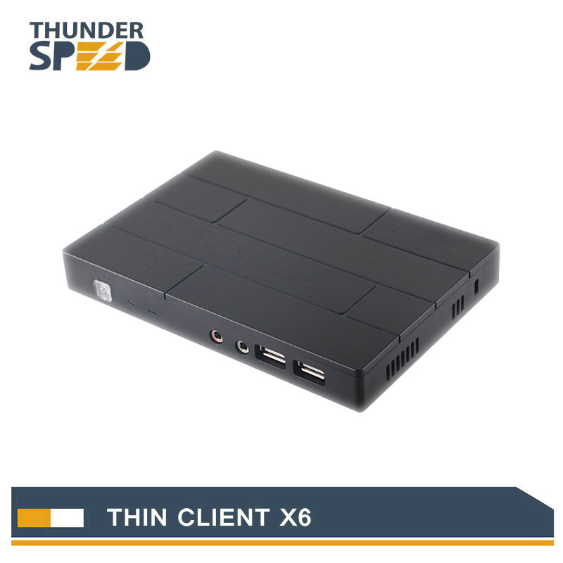 RDP Net Computer Thin Client X6 Embedded Linux OS with 3 USB Ports Support WIFI for Industry