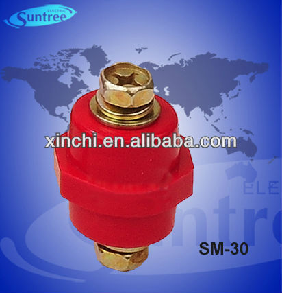 SM series insulator with screws material / SM-30 red insulator terminal