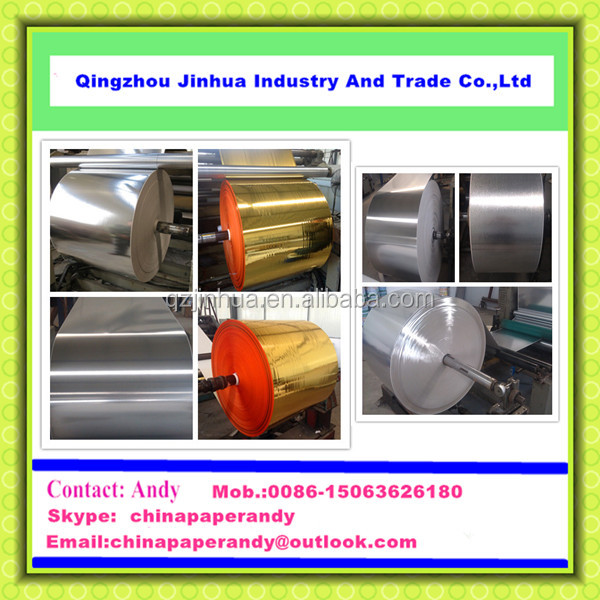 JH Series Gold & Silver PET Film Metallized Paper For Sales Promotion