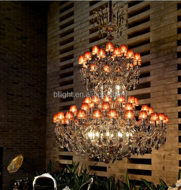 Unique pendant crystal light glass islam chandelier lighting