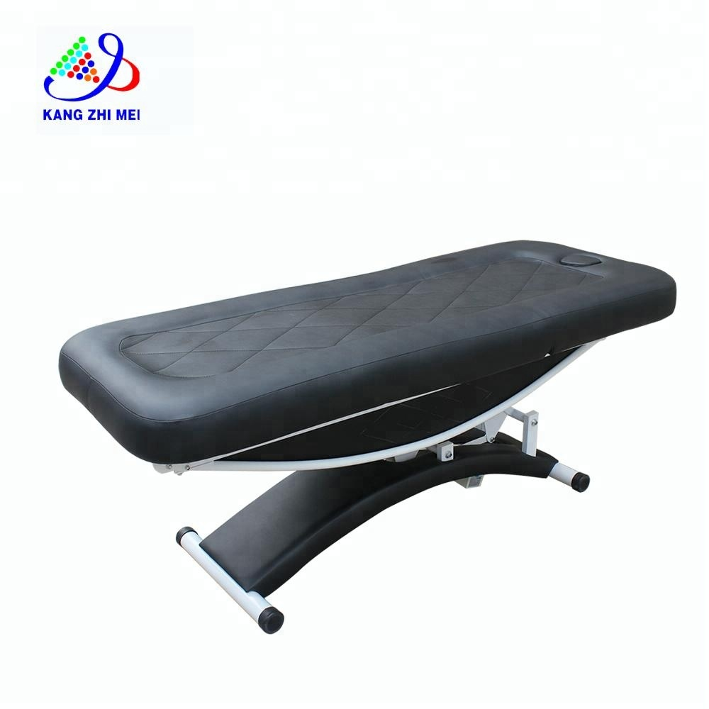 Black vibration massage wax bed& electric facial bed with 4 motors KM-8809