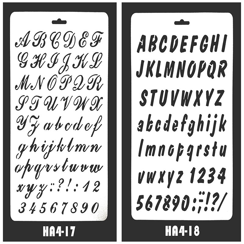 New Style Alphabet Journal Stencils Journal Embellishment Stencils Plastic Drawing Stencils