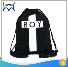 High class student school fashion new boy tote drawstring backpack bag