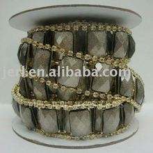 Asfour 888 rhinestone resin chain with Crystal Stones