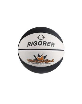 Black and white basketball ball leather size 5 for children