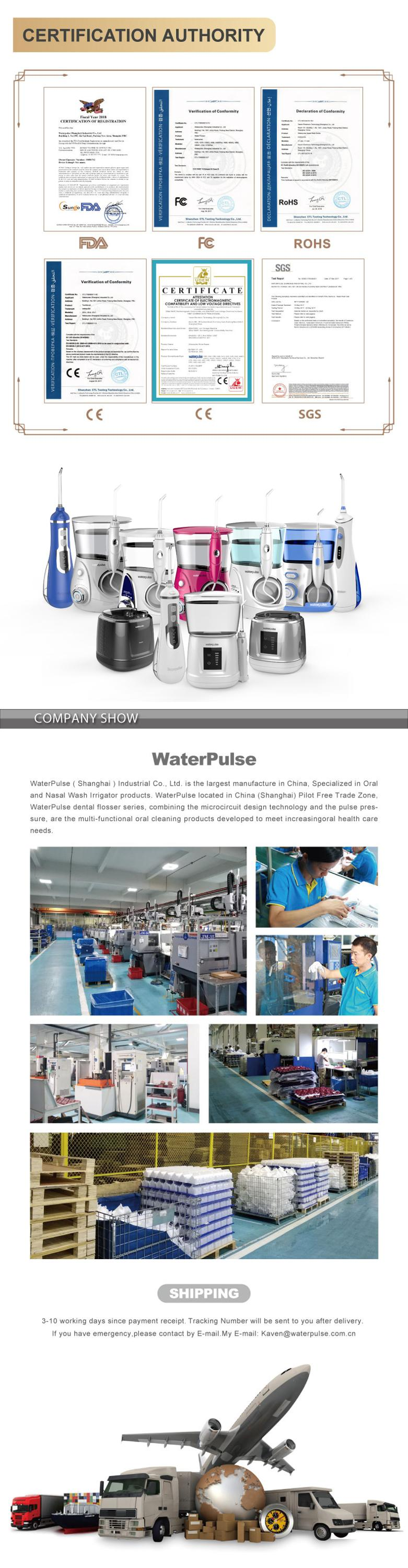 Waterpulse V500 Water Dental Flosser Powered Floss Water Jet Teeth Cleaning Machine Dental Implements Spa Dental Portable Jet
