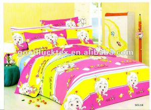 100% polyester brushed printing microfiber fabric for bedsheets