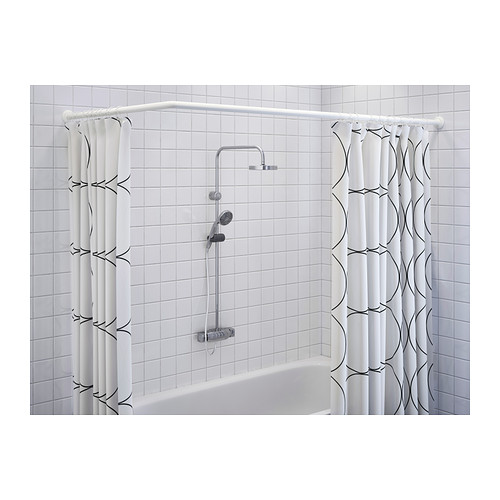 get quotations adjustable lshaped shower curtain rod shower curtain rod shower curtain rod curved rod